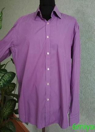 Сиреневая мужская рубашка roy robson.