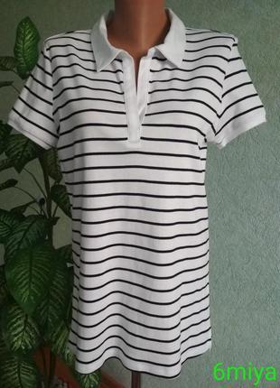Женская 🏈 футболка в сине-белую полоску c&a.