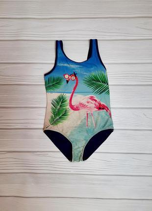 Купальник сдельный фламинго