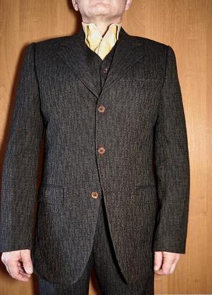 Брендовий шерстяний костюм трійка від dolce gabbana
