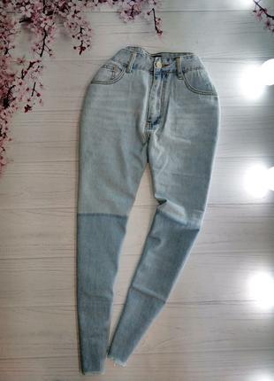 💣Мом-джинси з необробленим низом від PLT.