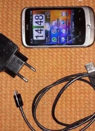 Телефон HTC Wildfire a3333 + запасний акумулятор + Зарядний пр...