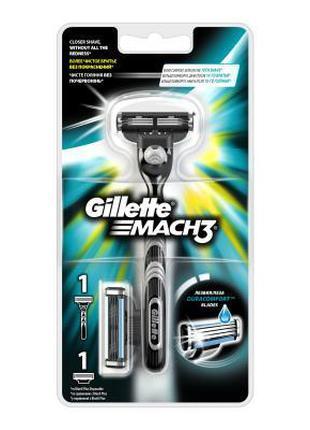 Бритва Gillette Mach 3 с 2 сменными кассетами (7702018020706)