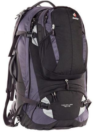 Рюкзак Deuter Traveller, 70 + 10 л, black-silver