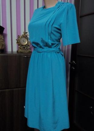 Платье  винтаж ретро миди бюстье нарядное офисное  50 52 разме...