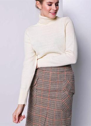 Британия,стильный базовый кремовый свитер из мягкого акрила от...