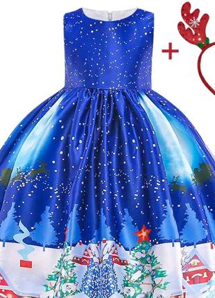 Новогоднее платье Зима