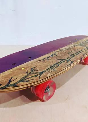 Скейт из эпоксидной смолы, пенниборд, скейт