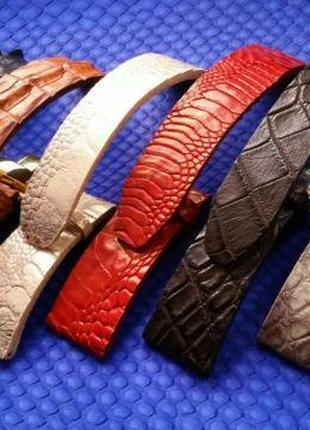 Ремешок для часов из кожи крокодила OMEGA BREITLING NARDIN HUBLOT