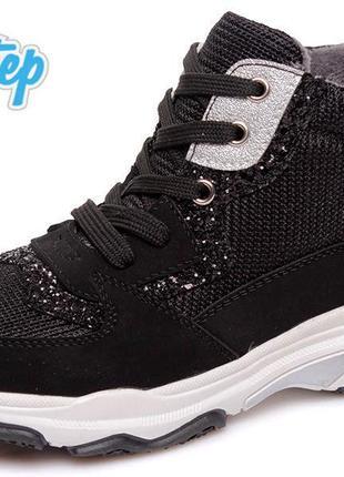 Хайтопы деми ботинки на флисе с супинатором р.32-37 наложка об...