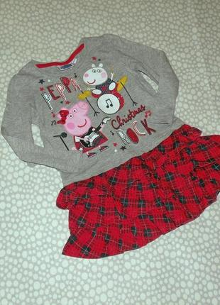 Платье пеппа 1-2 года