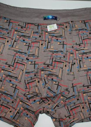 Трусы боксеры для богатырей из бамбукового волокна разные цвет...