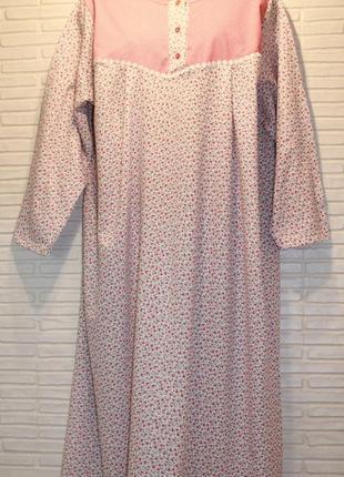 Ночная рубашка, сорочка, ночнушка, теплая, на байке 100%х/б по...
