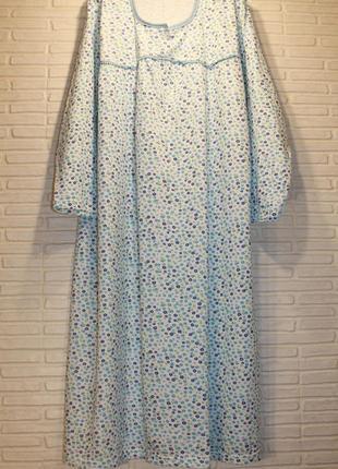 Ночная рубашка ночнушка ночная сорочка теплая байковая 2xl