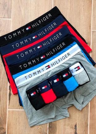 Набор боксеров tommy hilfiger из 5 шт сер крас син чер сапф