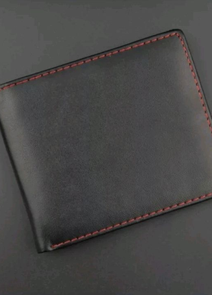 Мужское портмоне - черный мужской кошелек