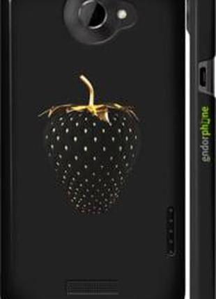 """Чехол на HTC One X Черная клубника """"3585c-42-2448"""""""