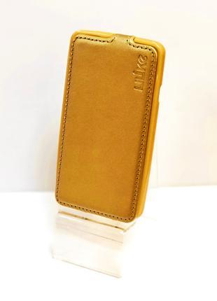 Чехол книжка на телефон LG L60 X135 золотистого цвета