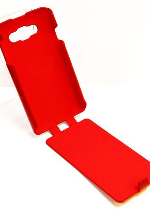 Чехол книжка на телефон LG L60 X135 красного цвета