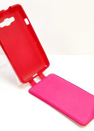 Чехол книжка на телефон LG L60 X135 розового цвета