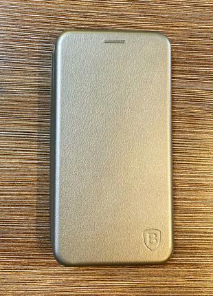Чехол-книжка на телефон Samsung J510, J5 2016 года серебристог...