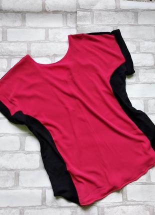 Блуза  шелк+ трикотаж р.10