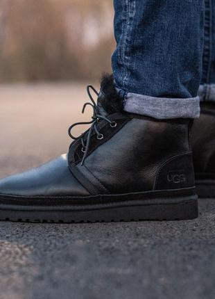 ❄️зимние❄️мужские ботинки/угги/уги ugg neumel boot black, кожа...