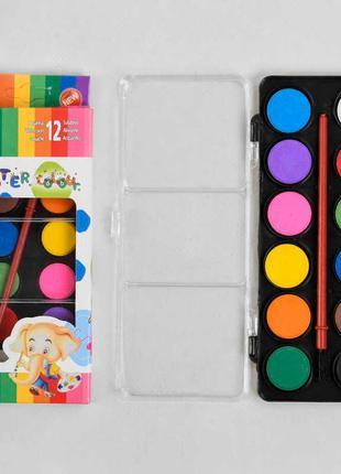 Краски акварельные для рисования С 37144 (288) палитра 12 цвет...