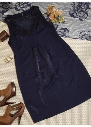 Блестящее платье с декоративными камнями fransa
