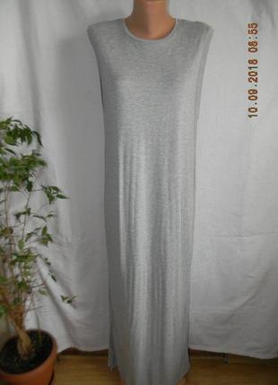 Трикотажное длинное платье h&m