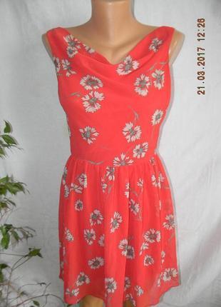 Шифоновое нежное платье с цветами love