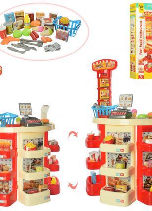 Игровой набор магазин,прилавок,кассовый аппарат,сканер,продукт...