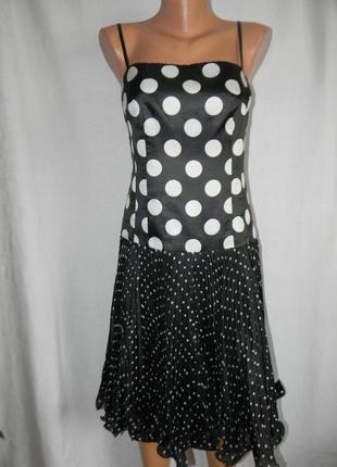 Новое шелковое платье с плиссированной юбкой