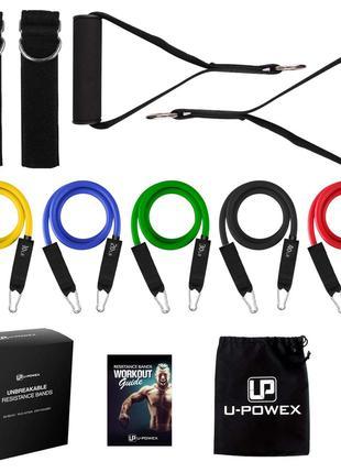 Набор трубчатых эспандеров для фитнеса UPowex original 5 шт на...