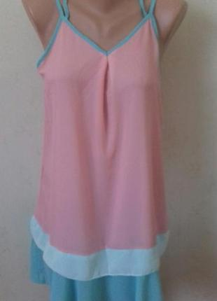 Нежное шифоновое платье-сарафан