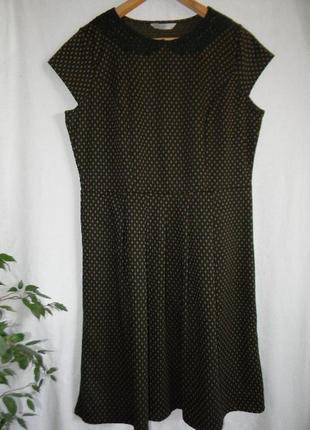 Осеннее платье c воротником