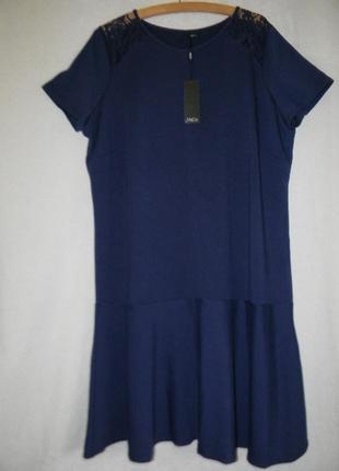 Теплое новое платье большого размера
