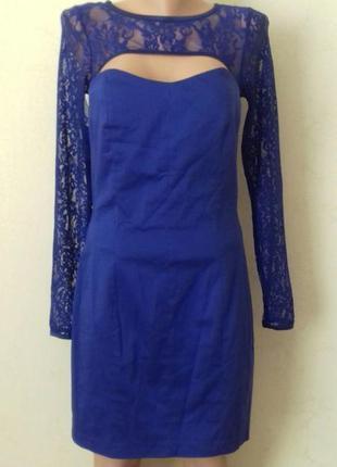 Новое красивое нарядное платье с кружевным верхом asos