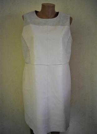 Стильное платье из эко замша и кожи oasis
