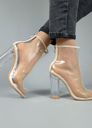 Туфли на каблуке прозрачные