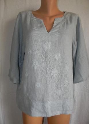 Льняная блуза с вышивкой италия