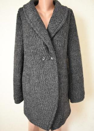 Новое стильное пальто в составе шерсть new look