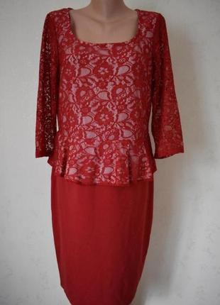 Красивое элегантное платье с кружевным верхом george
