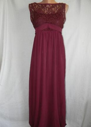Нарядное платье с кружевом в пол