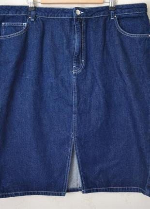 Стильная новая джинсовая юбка большого размера