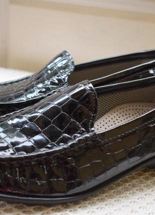 Кожаные туфли лоферы мокасины слипоны ара ara р.6 р.39 25,4  см