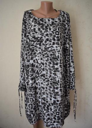 Платье с принтом большого размера