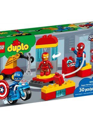 Конструктор LEGO DUPLO Super Heroes Marvel Comics Лаборатория ...