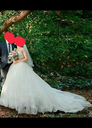 Волшебное свадебное платье цвета лайт айвори