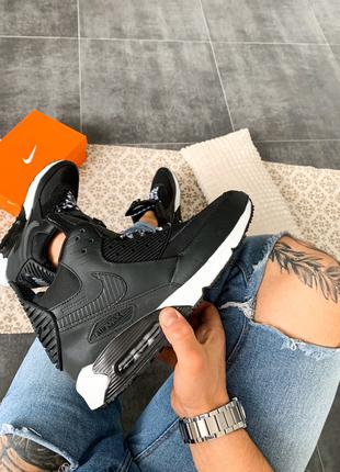 "Кроссовки Nike Air Max 90 Sneakerboot ""Black/White"""